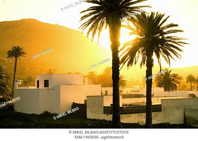 Haria village. Lanzarote, Canary Islands, Atlantic Ocean, Spain