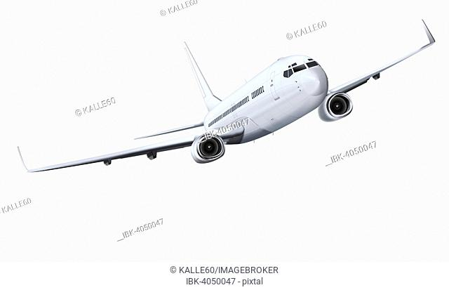 Commercial airplane, illustration