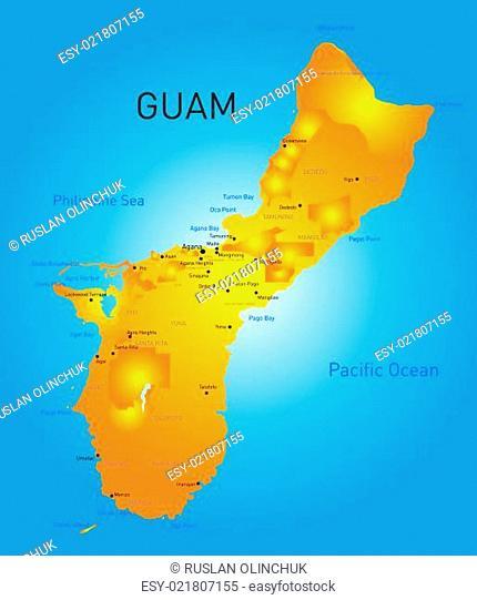 Guam map Stock Photos and Images | agefotostock