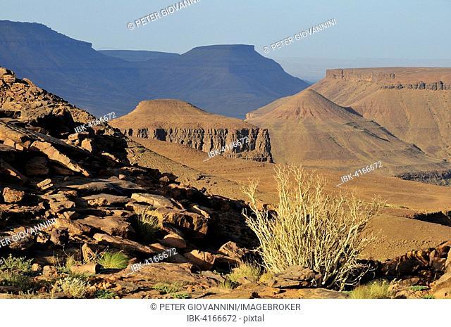 Mountain scenery at Amogjar pass, Atar, Adrar Region, Mauritania