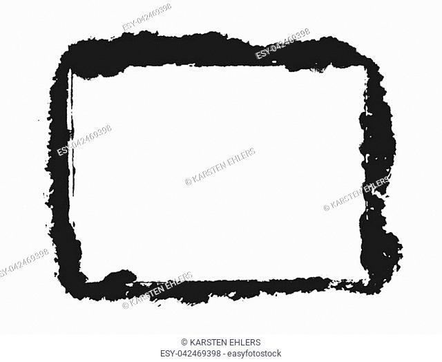 Sketch of hand painted black brush frame