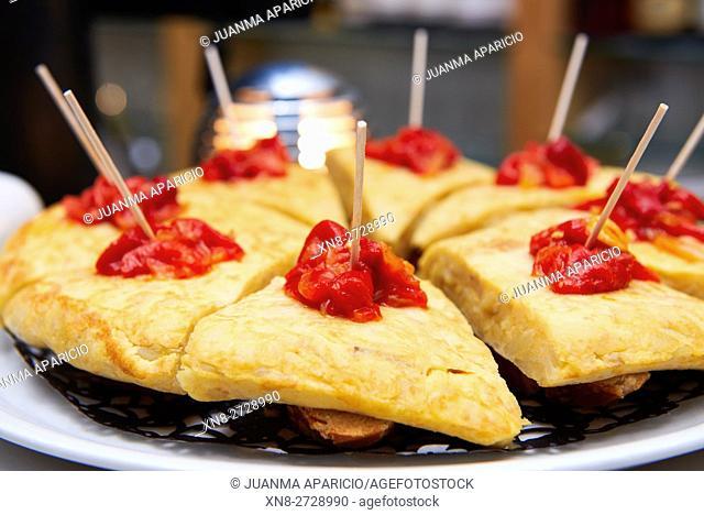 Spanish Omelet, Pintxos, Tapas