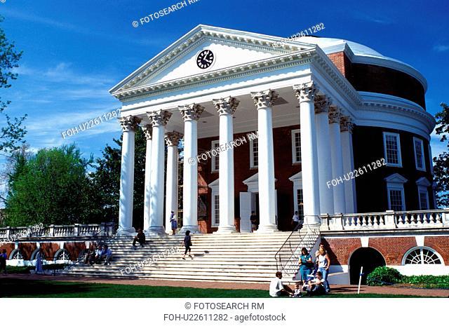 college, university, Charlottesville, VA, Virginia, The Rotunda on the University of Virginia campus in Charlottesville in the spring