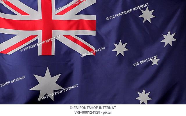 Close-up of an Australian flag