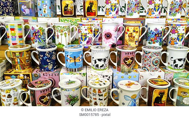 Varied mugs for sale