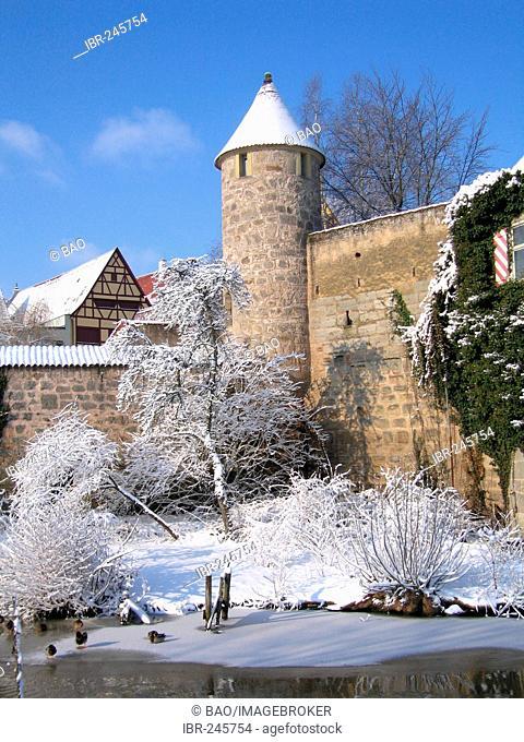 The fortress of Dinkelsbühl, Bavaria, Germany