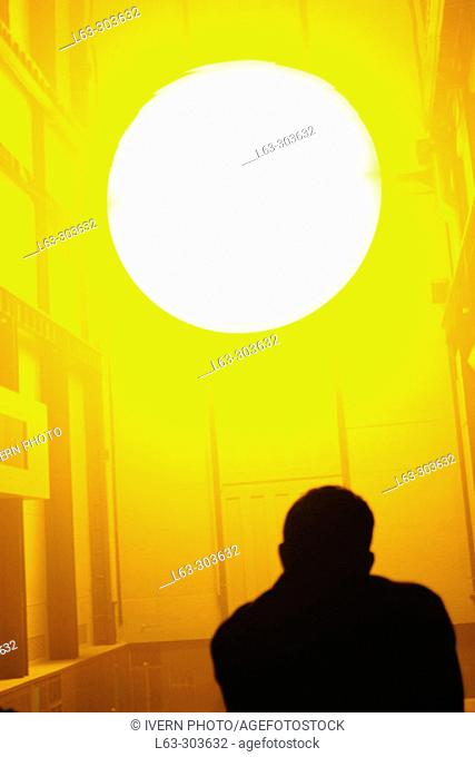 Sun and man, exhibition at the Tate Modern gallery. London. England