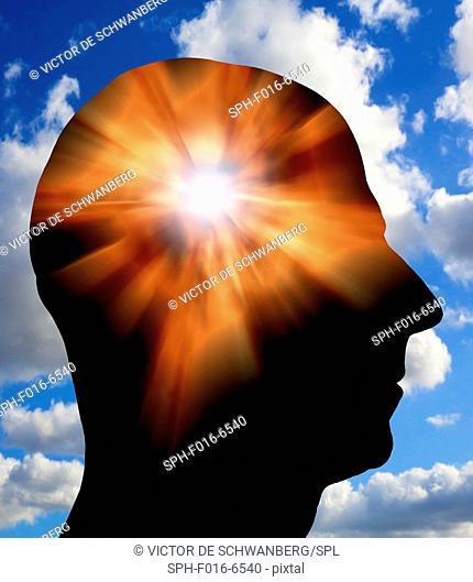 Human mind, conceptual illustration