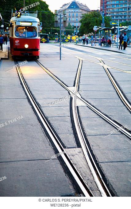 Tram in Ringstrasse, Vienna, Austria