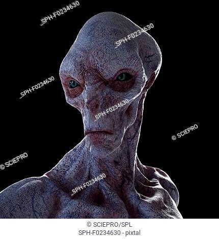 Illustration of a humanoid alien