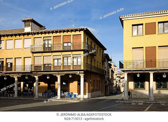 Main Square. Tordesillas. Valladolid province. Castilla y León. Spain