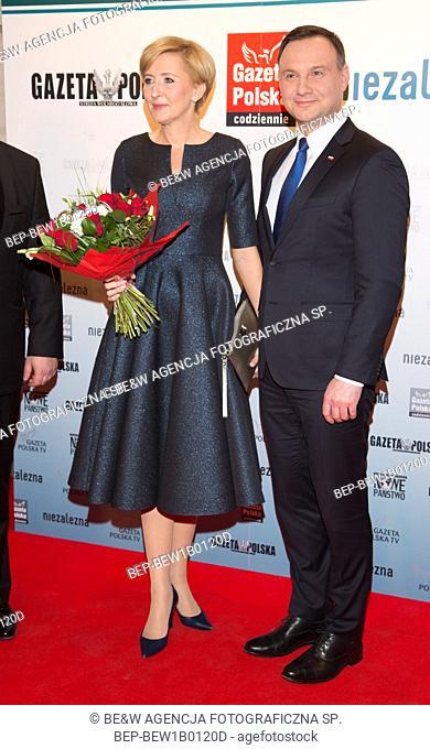 January 29, 2016 Warsaw, Poland. Presidential Couple - Andrzej Duda and Agata Duda