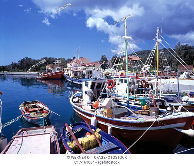 Fishing port. Petriti. Corfu. Greece
