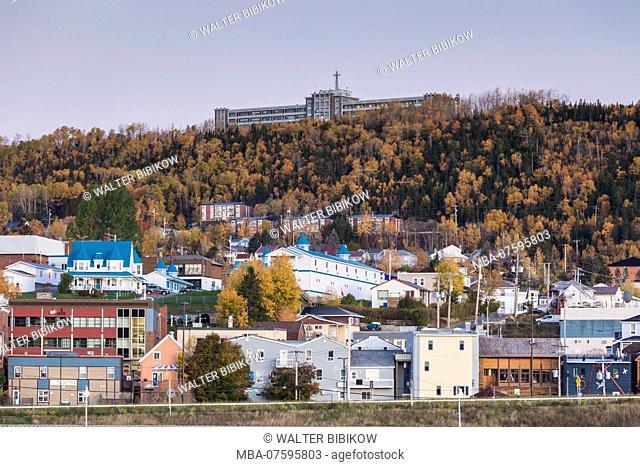 Canada, Quebec, Gaspe Peninsula, Gaspe, town view, dawn