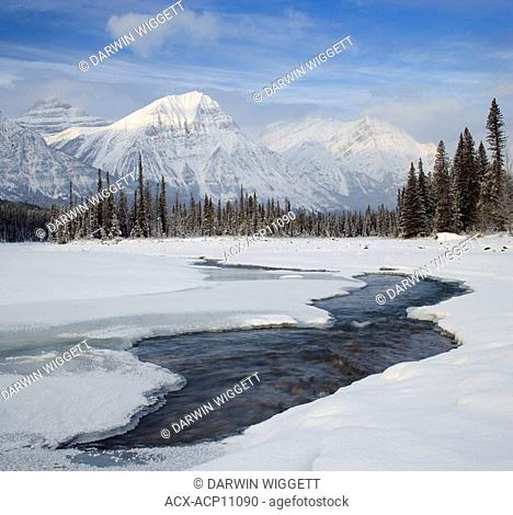 Mount Fryatt and the Athabasca River Jasper National Park Alberta, Canada