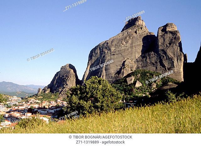 Greece, Thessaly, Meteora, Kalambaka village