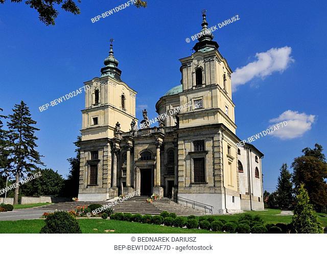 Collegiate Church of St. Josef founded in 1637 by J. Ossolinski. Klimontow, Swietokrzyskie Voivodeship, Poland