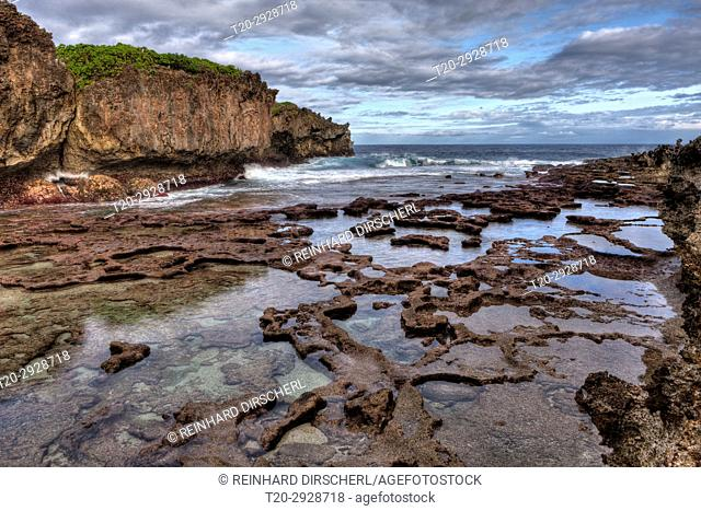 Coral Rock Pools at Lily Beach, Christmas Island, Australia
