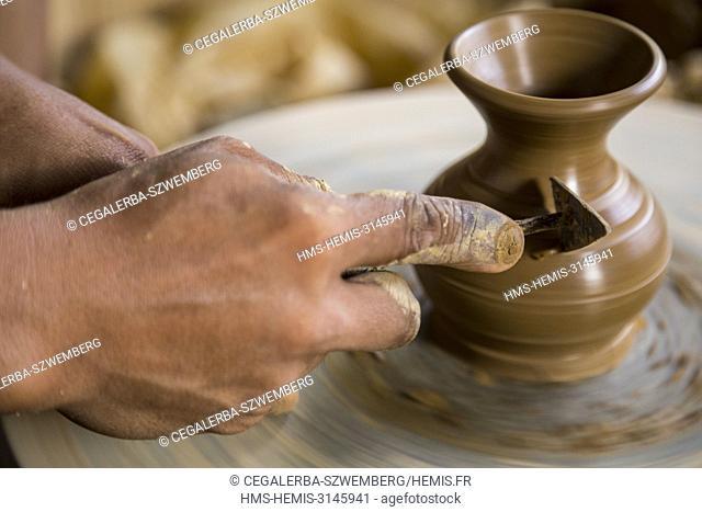 Philippines, Luzon, Albay Province, Tiwi, ceramic fabric