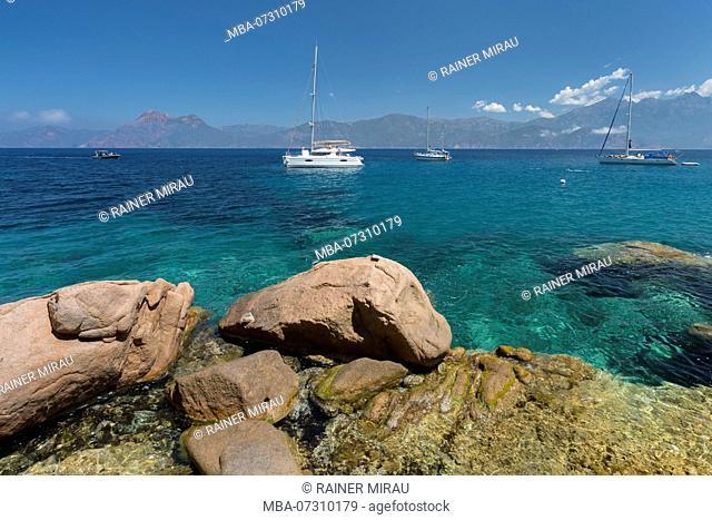 Plage de Ficajola, Calanques de Piana, Corsica, France