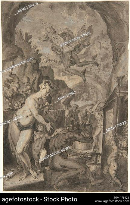 Venus in the Forge of Vulcan. Artist: Anonymous, German, 17th century; Former Attribution: Formerly attributed to Johann Matthias Kager (German