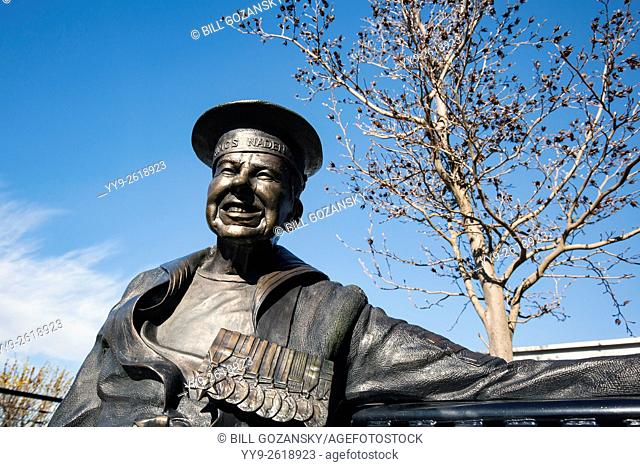 Navel Officer Statue by Nathan Scott in Victoria, Vancouver Island, British Columbia, Canada
