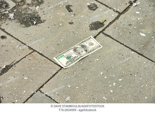 Fake US dollars being burned in preparation for Tet Vietnamese New Year, Hoi An, Vietnam
