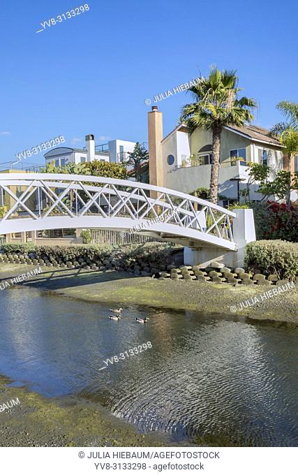 Bridge in Venice canals, Los Angeles, California