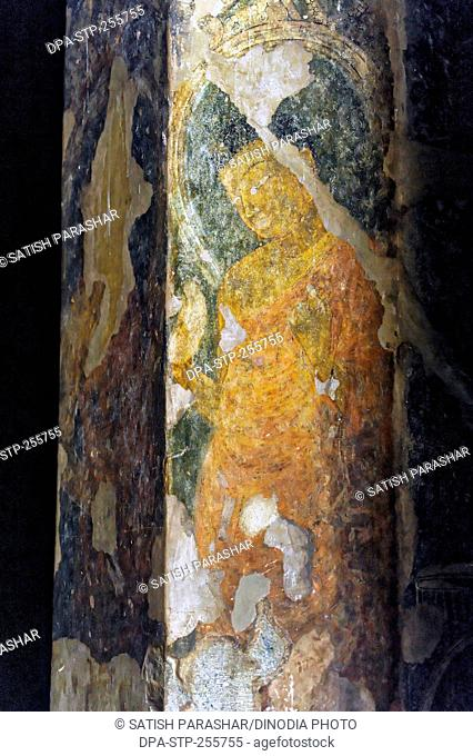 painting, ajanta caves, aurangabad, maharashtra, India, Asia
