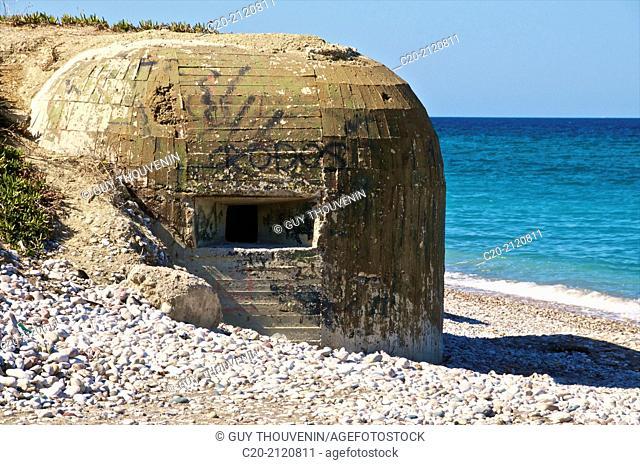 Blockhaus on the beach,