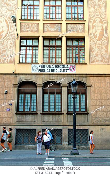 Angel Baixeras School, 1918, architect josep Goday, Barcelona, Catalonia, Spain