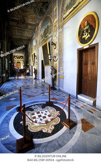 In the internal one of the Grand Master's palace of Valletta of the capital of Malta in the Mediterranean Sea in Europe