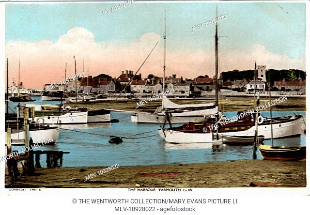 Harbour, Yarmouth, near Totland, Isle of Wight, England