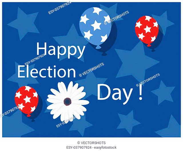 Drawing Art of Happy Election Day Background Vector Illustration