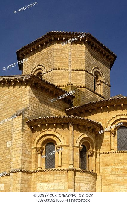 detail of San Martin de Tours Church, Fromista, Castilla y Leon, Palencia, Spain