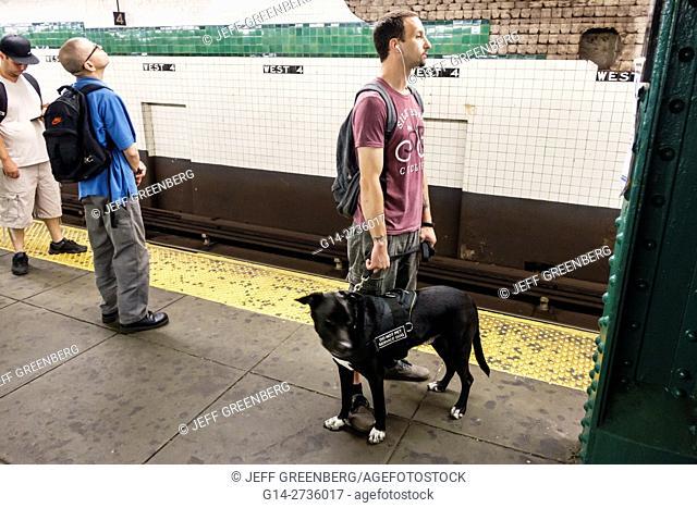 New York, New York City, NYC, Manhattan, 4th Street Station, subway, MTA, public transportation, rapid transit, platform, passenger, commuter, rider, man