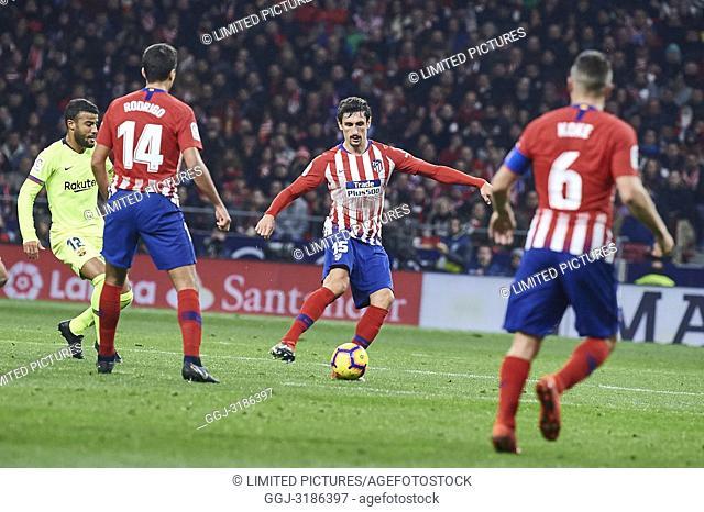 Stefan Savic (defender; Atletico Madrid) before La Liga match between Atletico de Madrid and F.C. Barcelona at Wanda Metropolitano on November 24