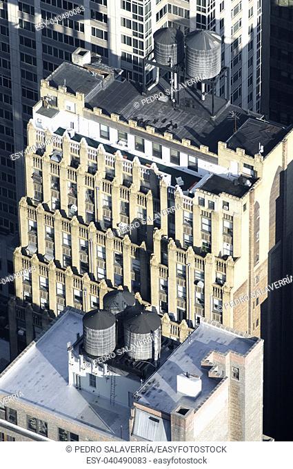 Aerial view in Manhattan, New York, United States