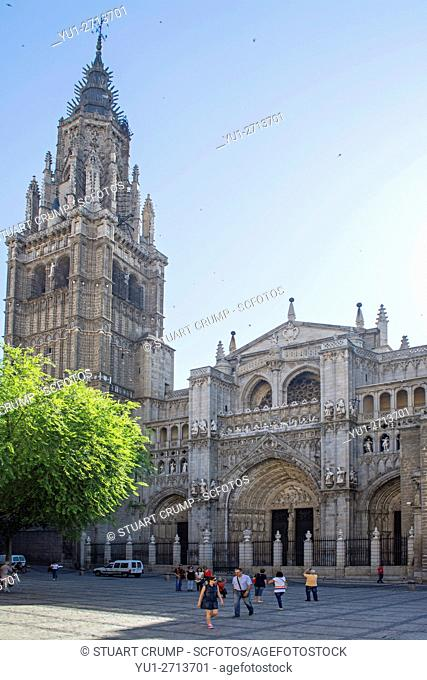 Facade of the Cathedral of Saint Mary of Toledo