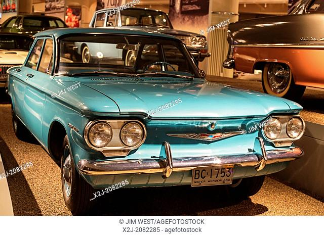 Dearborn, Michigan - The 1960 Chevrolet Corvair on display at the Henry Ford Museum