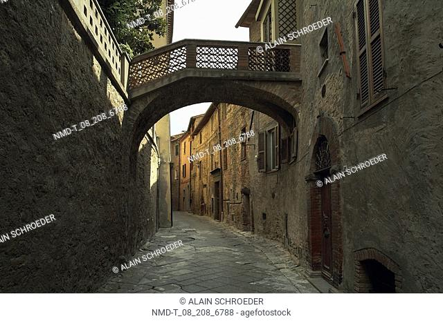 Buildings on the both sides of an alley, Panicale, Umbria, Italy