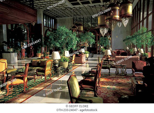 The lobby of the Mandarin Oriental Hotel, Bangkok