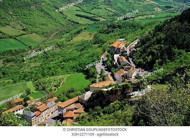 village of Roquefort-sur-Soulzon, Aveyron department, Midi-Pyrenees region, France, Europe