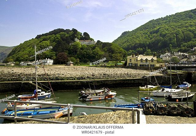 Hafen in Lynmouth in England harbour in Lynmouth