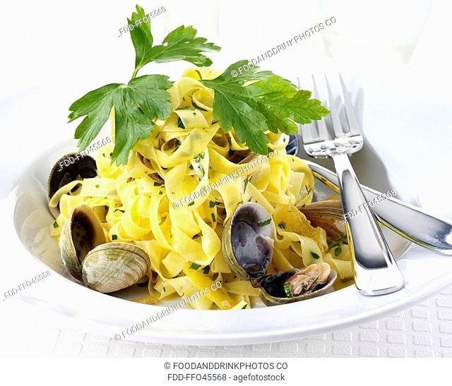 Fettucine With Clams