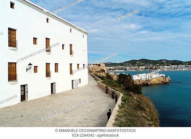 Old Town, Dalt Vila, Eivissa, Ibiza, Balearic Islands, Spain, Mediterranean, Europe