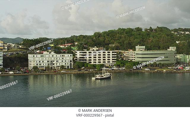 WS HA Overview of harbor / Castries, St. Lucius, Caribbean