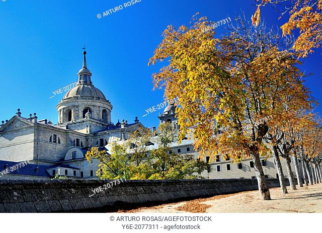 Dome of San Lorenzo Monastery. San Lorenzo de El Escorial, Madrid. Spain