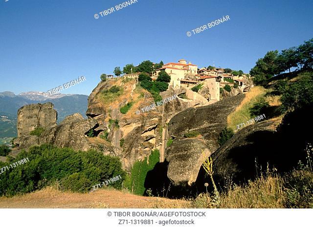 Greece, Thessaly, Meteora, Megalou Meteorou Monastery