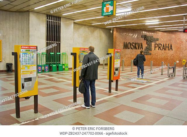 Ticket machines, Andel metro station, Smichov, Prague, Czech Republic, Europe